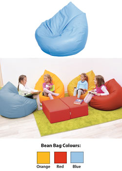 2x Waterproof Bean Bag Cover Only Plush Toy Storage Holder Royal Blue /& Pink