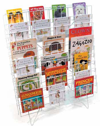 E40e Sturdy Wire Book Storage Perfect For Any Classroom Library Cool Book Display Stand Uk