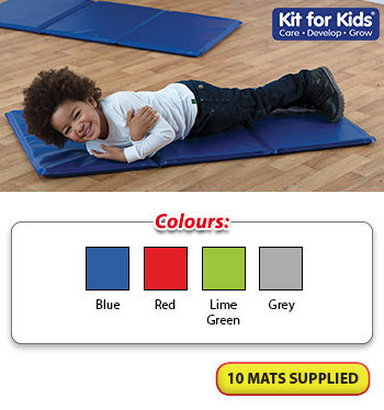 Ideal for Childminders /& Nurseries Set of 5 Toddlers//Childrens Triple Folding Wipe Clean Sleep Mats//nap mats//Snooze mats with Purpose Made Holdall