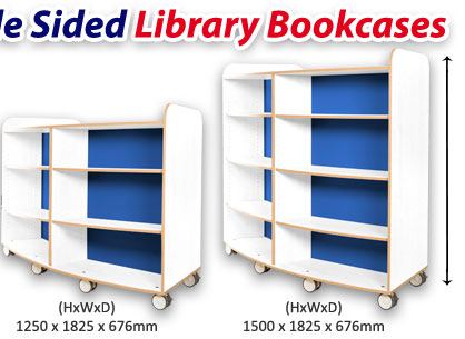 KubbyClassR Curved Double Sided Library Bookcase
