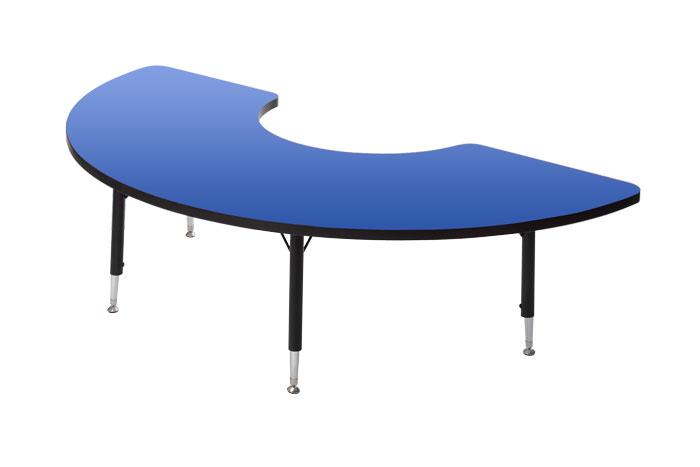 e4e - Laminated Half Circle Table