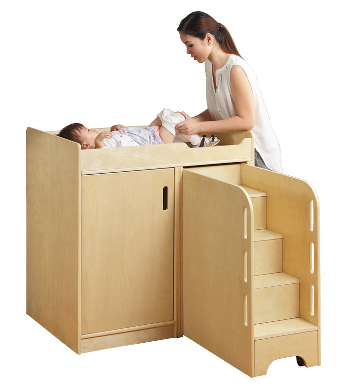 E4e Max Amp Rosie Wooden Nappy Changing Station