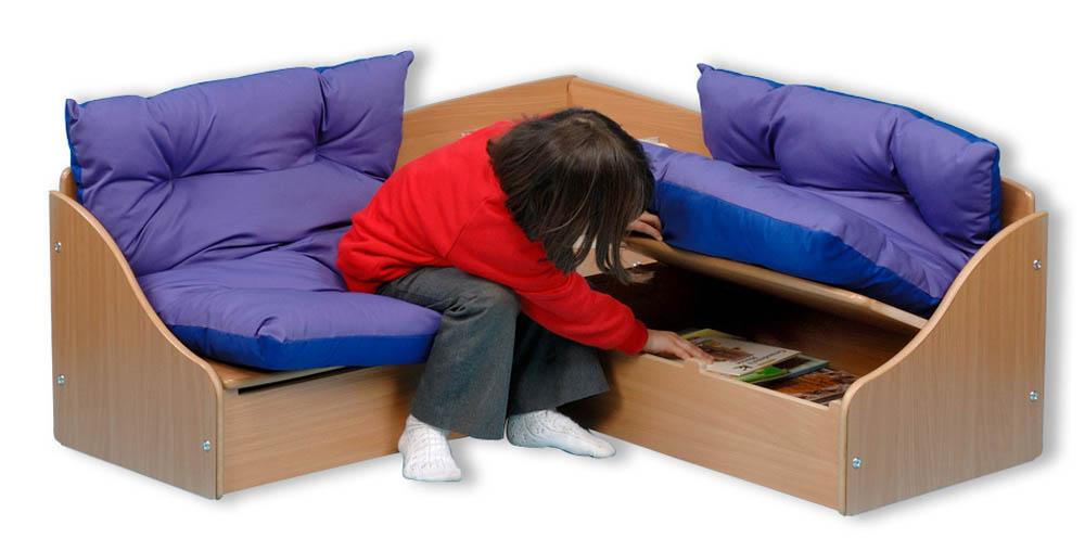 E4e Reading Corner Beech Corner Unit Seat