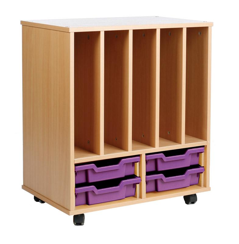 E4e Storage Allsorts Unit With Big Book Holder And 4