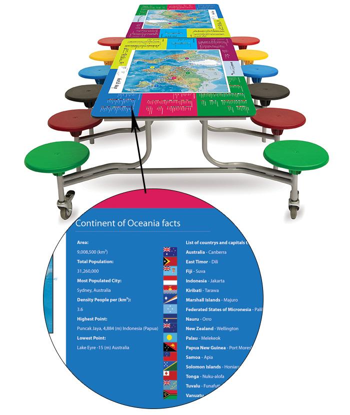 e4e - Spaceright Rectangular World Map SmartTop Mobile