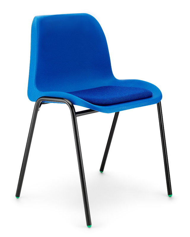 E4e Affinity Polypropylene Chair With Upholstered Seat Pad