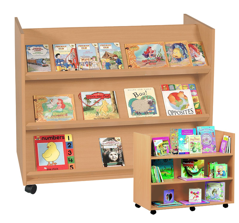 Double Sided Book Display Shelf