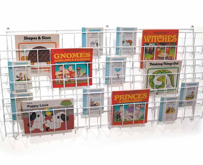 Horizontal Wall Mounted Display Book Rack
