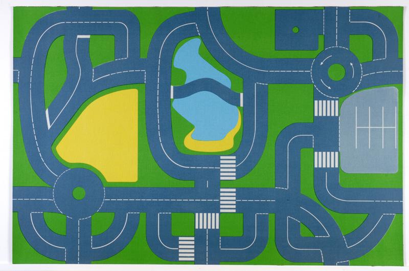 E4e Continental Road Plan Playmat 1 5m X 1m