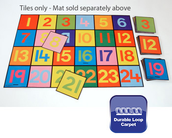 Giant Numbers Floor Tiles 1-24