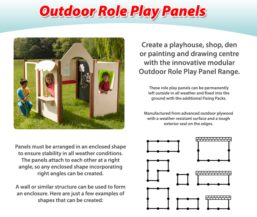Outdoor Role Play Panels