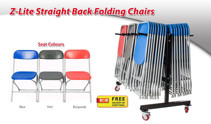 E4e Trusted Z Lite Straight Back Folding Chair Supplier
